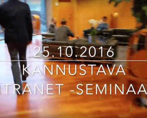 Kannustava intranet -seminaari 25.10.2016